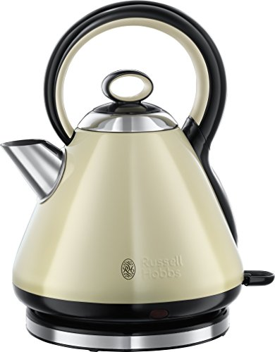 Russell Hobbs 21888 Legacy Quiet Boil Kettle, 3000 W, 1.7 Litres, Cream Best Price and Cheapest