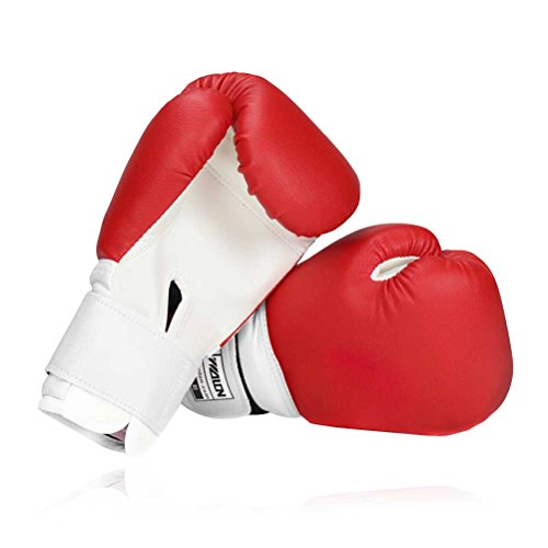 Kinder Boxhandschuhe, Sparring Kickboxen Muay Thai Training Sports Junior rot-Handschuhe PU Pad, Alter 5–12Jahre