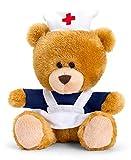 Saino Plüschtier Bär, Pipp The Bear als Krankenschwester, Kuscheltier Teddy braun angezogen,...
