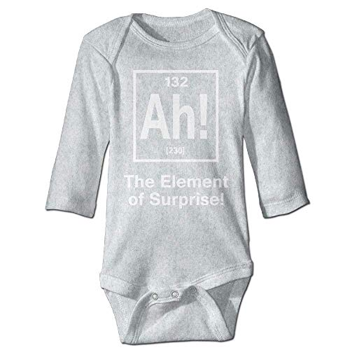 Unisex Newborn Bodysuits Element of Surprise Boys Babysuit Long Sleeve Jumpsuit Sunsuit Outfit Ash
