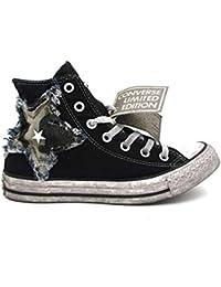 16d442934274 Converse Ctas Hi Canvas Ltd Sneakers Nero Bianco Vintage 162894C (44 - Nero)