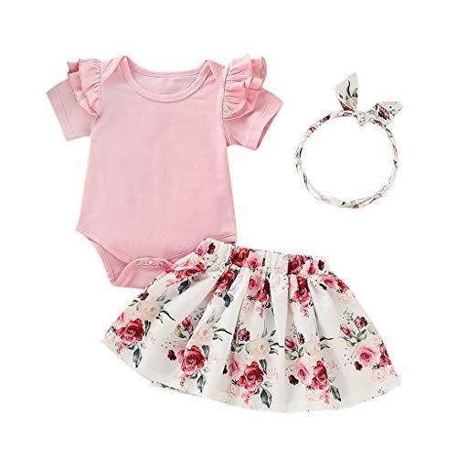 Floral Print Romper (LEXUPE Baby Kleidung Mädchen, Neugeborene Kleinkind SäUgling Floral Print Romper RüSchen Rock Outfits Set ...)