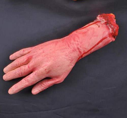 JOJOmay Partypräferenzgeschenk Realistische Latex Gory Human Arm Hand Gefälschte Hand Scary Blutige Körper Teile Halloween Requisiten Kostüm