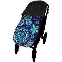 Tris&Ton Saco funda silla de paseo universal para bebe modelo Elephants, Saco funda cochecito con forro polar impermeable invierno Saco de abrigo (Trisyton)