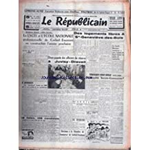 REPUBLICAIN (LE) - LE LYCEE ET L'ECOLE NATIONALE PROFESSIONNELLE DE CORBEIL-ESSONNES EN CONSTRUCTION - DES LOGEMENTS LIBRES A ST-GENEVIEVE-DES-BOIS.