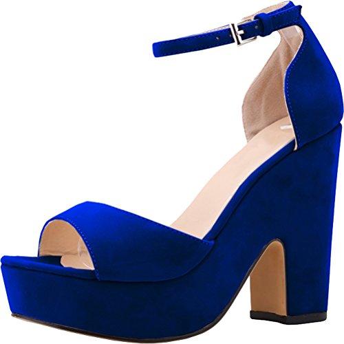 CFP ,  Damen Knöchel-Riemchen Blau