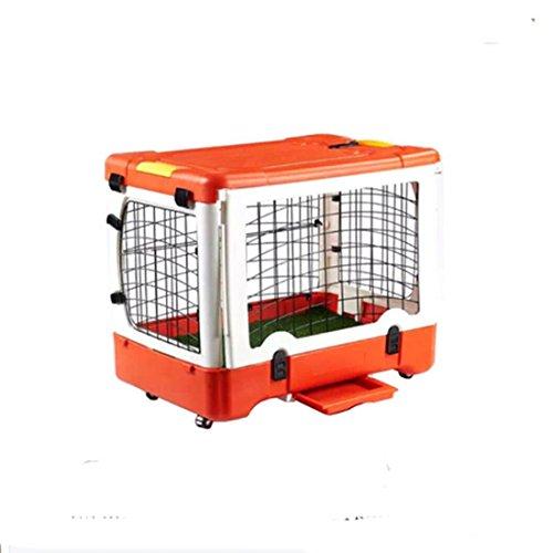 LDD-Multifunktions-Funktion Faltende große Plastikhundehaus, Falten entfernbare Haustier-Anzeigenkäfig mit Rädern , Orange