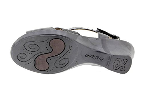 Scarpe donna comfort pelle PieSanto 1861 Sandali Plantare Estraibile larghezza speciale Charol Negro