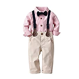 Jimmackey 2Pcs Bambino Ragazzo T-Shirt Fumetto Ricamo Applique Camicia Cime Plaid Pantaloncini Abiti Set