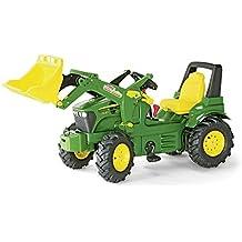 Schneider Novus 71 012 6 J. Deere 7930 - Tractor miniatura con neumáticos, transmisión, frenos y pala de carga (146 cm) [importado de Alemania]
