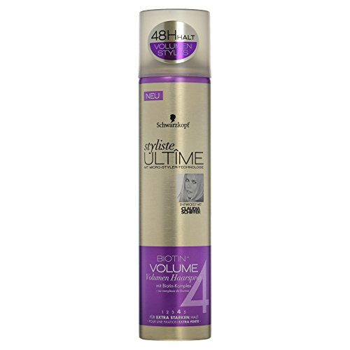 Schwarzkopf Styliste Ultîme Haarspray Biotin plus Volumen extra starker Halt 4, 300 ml