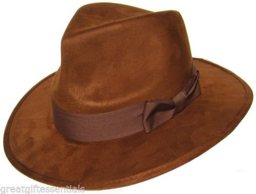 DOCTOR WHO HAT Fourth 4th Dr Fedora Brown Jones Tom Baker Costume BBC (Dr Supplies Who Party)