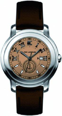 Ted Lapidus - 5120603 - Montre Homme - Quartz Analogique - Cadran - Bracelet Cuir Marron