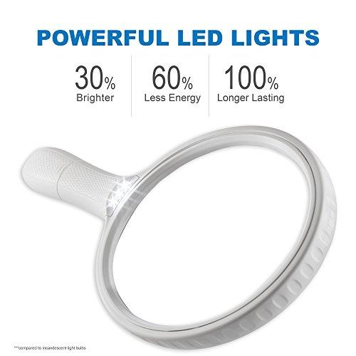 Fancii große Leselupe Lupe mit LED Licht und 2-fach 3,5-fach Vergrößerung - Grosse 138mm Beleuchtet Handlupe für Senioren zum Lesen - 3