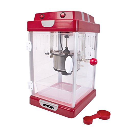 Global Gizmos 54500 Fun Giant Jumbo Cinema Style Party Popcorn Maker Machine, 4.5 Litre, 250 W, Red