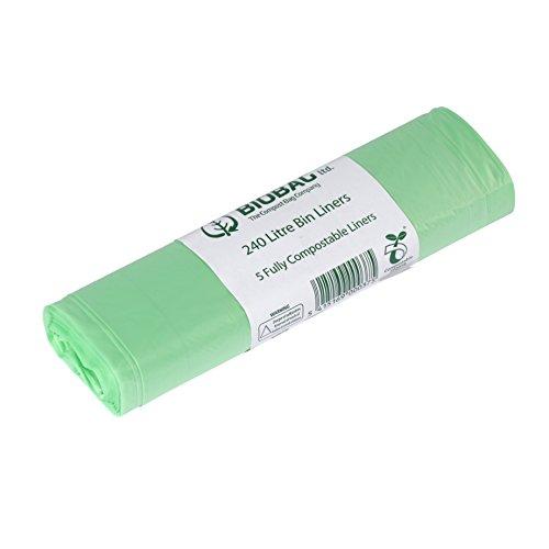 All-Green BioBag 240 litri sacchetti compostabili per pattumiere carrellabili con Guida al compostaggio, 10 Sacchetti