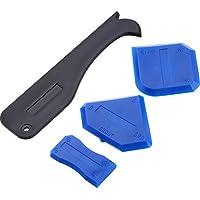 Set de herramientas para aplicar silicona de sellado y espátula para quitar tiras de sellado, para baños y cocina, de Yami® (4 piezas)