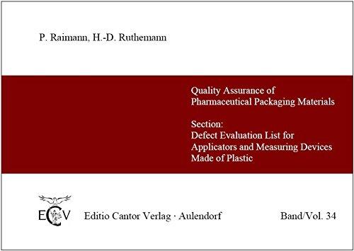 Fehlerbewertungsliste für Applikatoren und Messeinrichtungen aus Kunststoff /Section: Defect Evaluation List for Applicators and Measuring Devices Made of Plastic (Der Pharmazeutische Betrieb)