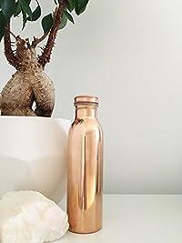 anupam Handmade 100% pure Copper Yoga Bottle-1000ml, Leak Proof & Joint Free for Ayurvedic Health Benefits