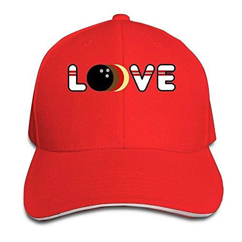 yiyuanyuantu Bowling Love Cap Unisex Low Profile Cotton Hat Baseball Caps Natural