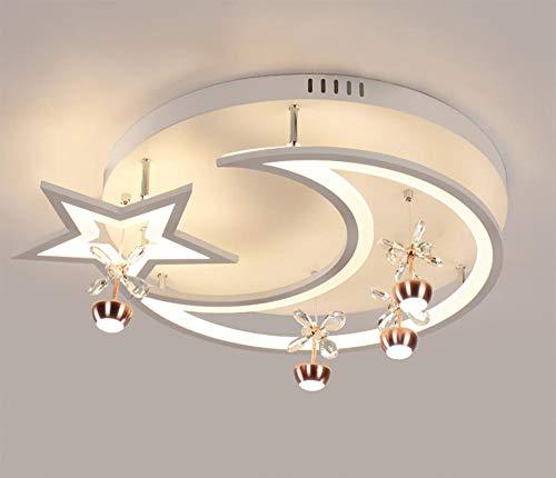 HUATI Kronleuchter Dekoration Schlafzimmer Restaurant einfach führte es s Sternmondder DeckenDreifarbiges 62 * 10 cm DQ-8963