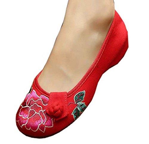 Vintage Design chinesische Schuhe bestickt Wohnungen Cheongsam Schuhe, # 04 (Rabatt Schuhe Kinder Designer)