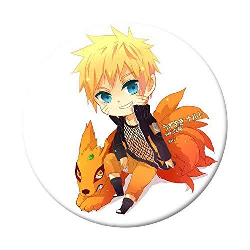 Shippuden Gaara Kostüm - Kunandroc Naruto Brosche, Anime Naruto Shippuden Abzeichen Kakashi Gaara Uchiha Sasuke Uzumaki Cosplay Broschen Botton Pins für Anime Fans(Style 12)