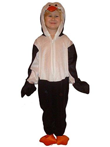 Pinguin-Kostüm, J35, Gr. 122-128, für Kinder, Pinguin-Kostüme Pinguine für Fasching Karneval, Klein-Kinder Karnevalskostüme, Kinder-Faschingskostüme, Geburtstags-Geschenk Weihnachts-Geschenk