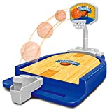XBECO Mini Basketball Desktop Arcade Game, Mini Desktop Blue Ball Novedad Game - Powerful Shooting Skill Board Game 5 Años O Más Interacción Entre Padres E Hijos Blue Ball Finger Catapult