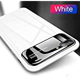Luxury Glossy Mirror Tempered Glass Camera Protection Hard Back Case Cover for Apple iPhone 7 Plus