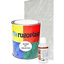 Rugoplast - Resina de poliester para reparaciones en general. Pack Rugoliester + catalizador + 1