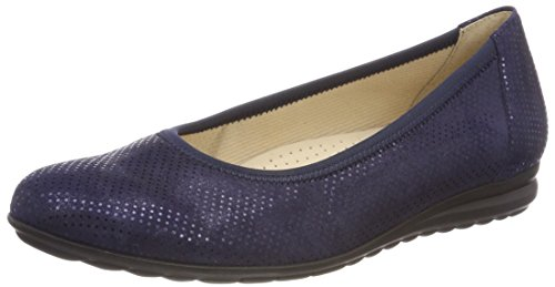 Gabor Shoes Damen Comfort Sport Geschlossene Ballerinas, Blau (Nightblue 26), 41 EU -