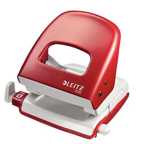 Preisvergleich Produktbild Leitz 50080025 Locher (30 Blatt, Anschlagschiene mit Formatvorgaben, Metall, Nexxt) rot