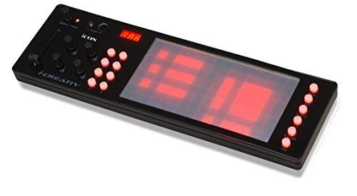 iCON i-Creativ mini USB MIDI Multi-Controller mit Touchscreen schwarz -