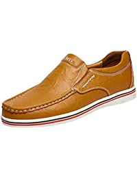 Dooxi Uomo Elegante Piatto Mocassini Scarpe Casuale Scivolare Loafers Scarpe  da Barca 743639cf04e
