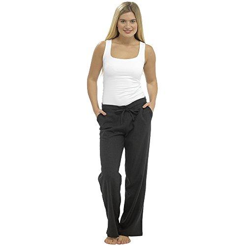 CityComfort Damen Leinen Freizeithosen Urlaub elastische Taille Damen Sommer Hosen Hosen Shorts beschnitten mit Taschen (10, schwarz in voller Länge) -