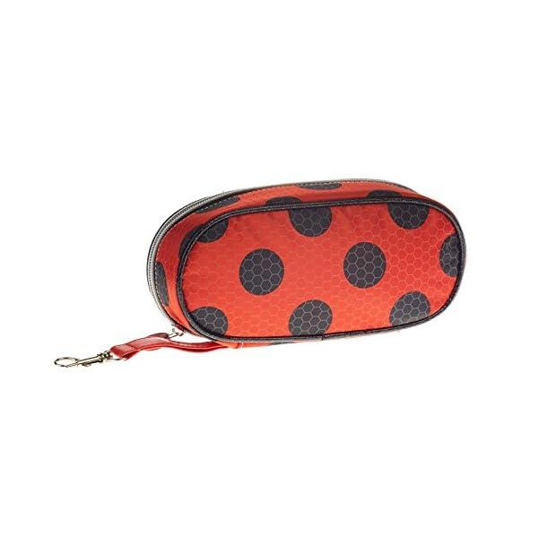 Lady Bug Miraculous- Ladybug Estuche portatodo Pencil, Color Rojo, 21 cm (Karactermanía 32890)