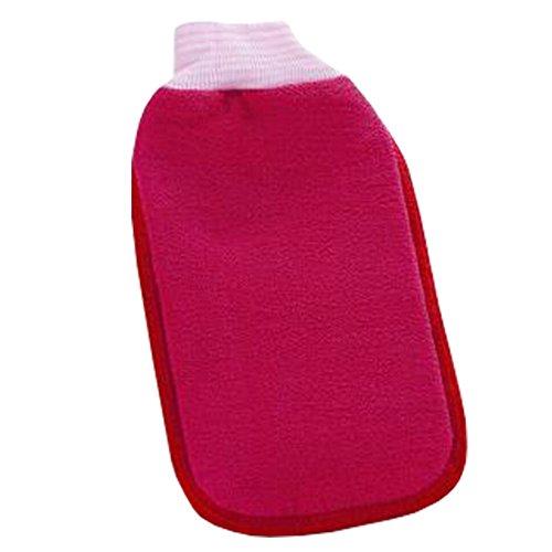 Bath loofah éponge laveur Mesh Bath Sponge Wash serviette de bain Gant pur Rouge
