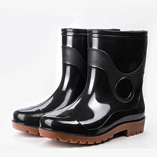 Regen Stiefel wasserdichte Schuhe Gummi Schuhe Arbeit Labor Versicherung Schuhe plus Baumwolle (Color : 2, Size : 40EU=7uk=9US)