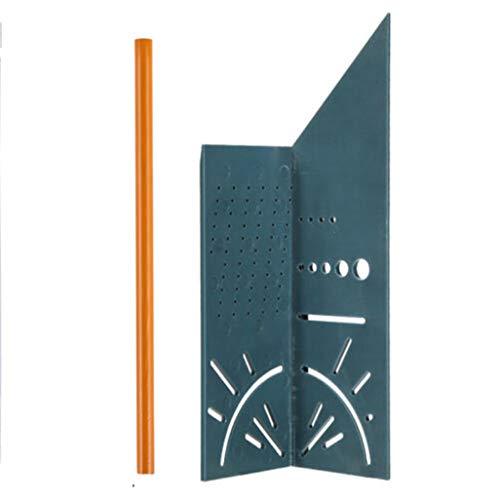 Gehrungswinkel 150 x 275 x 66 mm,Winkel Angleizer Hauptmaßstab Maßwerkzeug,Holzbearbeitung 3D-Gehrungswinkel Winkelmesswerkzeug Template Tool für Designer, Handwerker, Bauarbeiter, Handwerker (B)