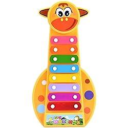 Tefamore-Musical Juguete Niño Bebé Instrumento De 8-nota Xilófono Desarrollo De La Sabiduría (Como muestra la imagen)