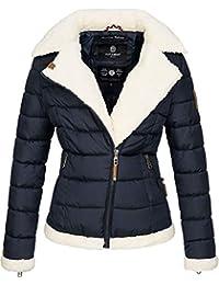 9b7fee43526d Navahoo Damen Designer Winter Jacke warme Winterjacke Steppjacke Teddyfell  B652