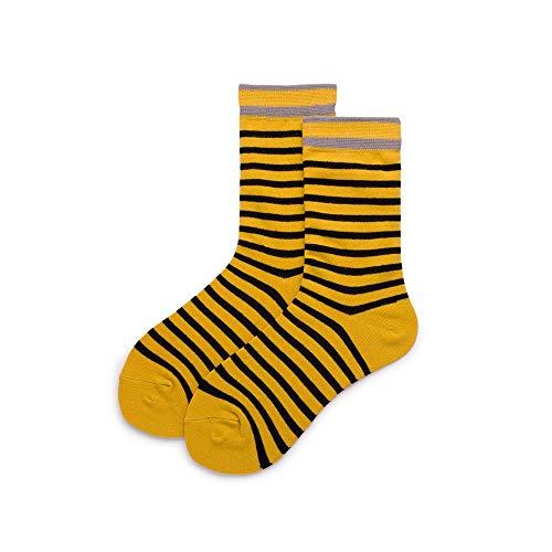 Gestreifte Low-cut-socken (Wenquan,5 paare Mode Joker Einfache Lässige Baumwolle Atmungsaktiv Low Cut Socken Für Frauen Männer Paar(color:Retro gestreifte Röhrensocken,size:37-43))