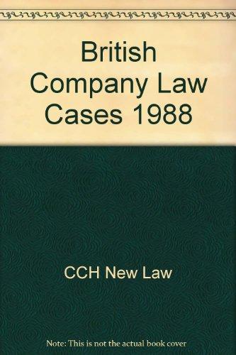 British Company Law Cases 1988 por CCH New Law