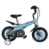 Yocobo Indoor Fahrrad Kinder Jungen Gilrs Fahrrad Freestyle Kind Sport Fahrrad mit Stablizers in Größe Zoll 12,14 Alter 3+ Herzfrequenzsensor (Farbe : Blau, Größe : 12 Inch(85-105cm))