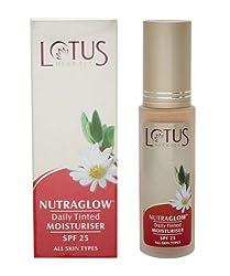 Lotus Herbals Nutraglow Daily Tinted Moisturiser | Fresh Ivory | SPF25 |50ml