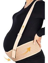 Faja Embarazada,Faja de Embarazo/Premamá,Transpirable y Cómodo Cinturón de Maternidad,Cinturón de Soporte del Embarazo con hombro desmontable para evitar dolor de Abdomen/Cintura/Espalda/Pélvico
