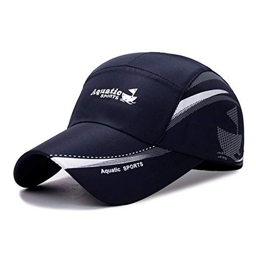MZ Sonnenschutz-Visier Licht und atmungsaktiv wasserdicht lässig Sport Baseball-Mütze Männer und Frauen schnell trocknende Kappe, dunkelblau