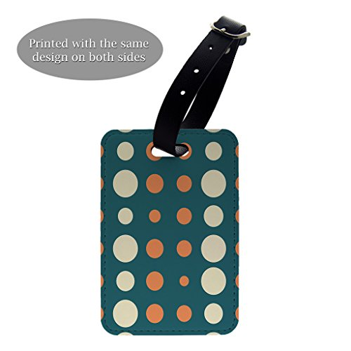 Gepäck-tags Polka Dots (Vintage Polka Dots Print Design Muster Gepäck Koffer Gepäck Tag–P599)
