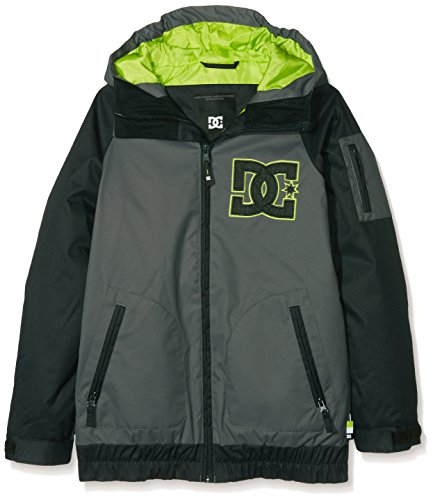 DC Apparel Jungen Youth Jkt Troop-Snow Jacket 8-16, Dark Shadow, 14/XL